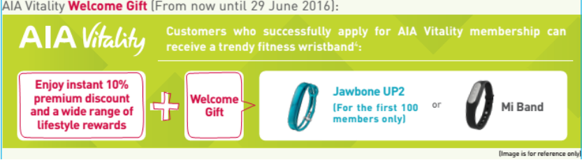 Get a trendy fitness wristband by becoming a new AIA Vitality member.